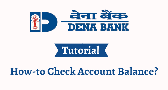 dena bank balance enquiry