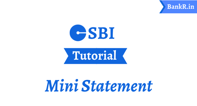 SBI Mini Statement