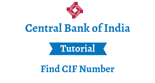 find cif number in central bank of india