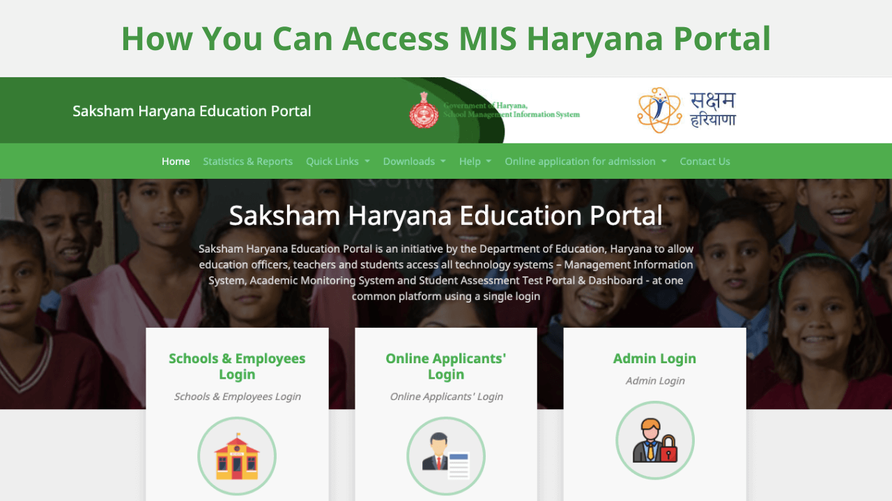 MIS Portal Haryana Login For Employees, Students, Online Applicants and Admin @ hryedumins.com